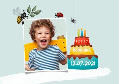 Kinderfeestje uitnodiging insecten bos speurtocht 2