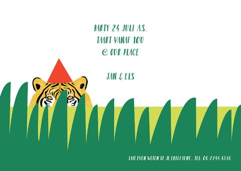 Kinderfeestje uitnodiging jungle party jongen 3