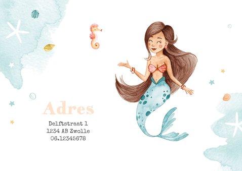 Kinderfeestje uitnodiging zeemeermin dieren water foto 2