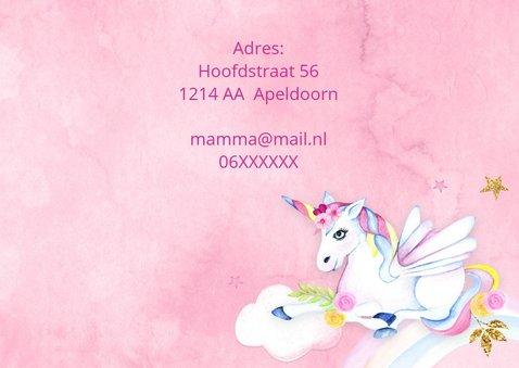 Kinderfeestje unicorn op wolkje 3