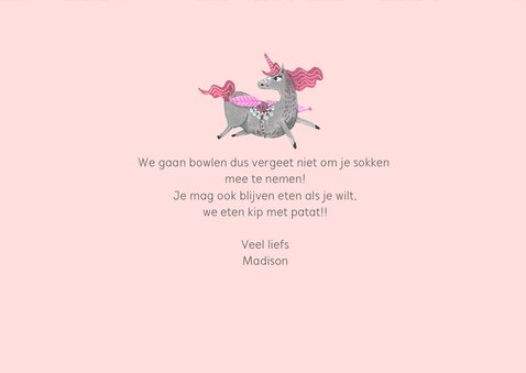 Kinderfeestje unicorn Pegasus paard 3
