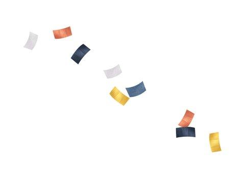 Kinderfeestje vrolijk hip confetti goud blauw rosé foto Achterkant