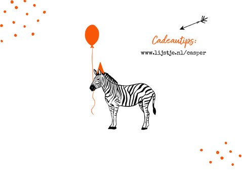 Kinderfeestje zebra oranje feest foto slingers confetti 2