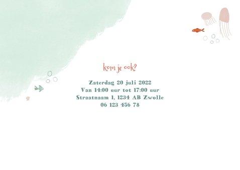 Kinderfeestje zeemeermin onderwater uitnodiging meisje 2