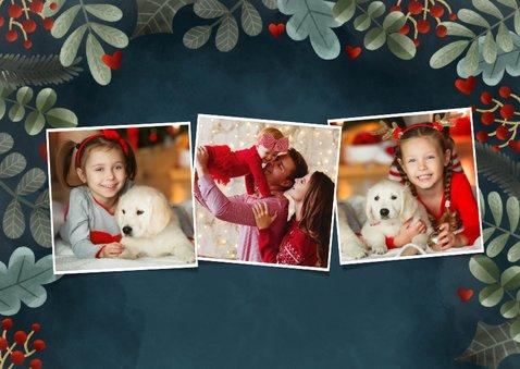 Klassieke kerstkaart liefdevolle kerst met kerst takjes 2
