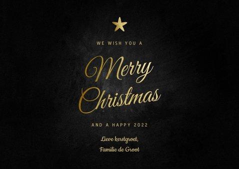 Klassieke Merry Christmas kerstkaart foto en sterretjes 3