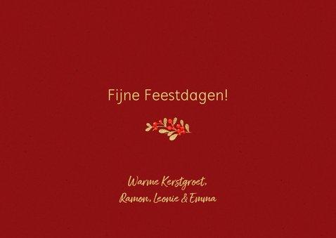 Klassieke rode kerstkaart met foto 3
