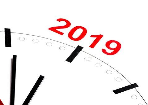 Klok telt af naar 2019 2