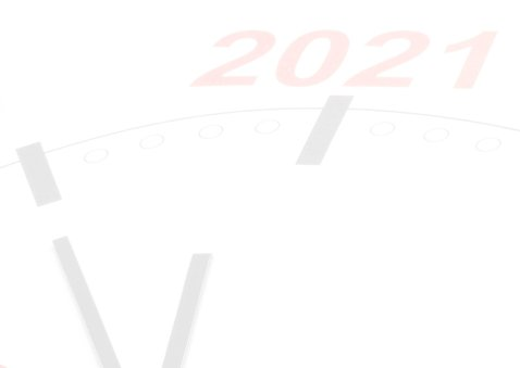 Klok telt af naar 2021 2
