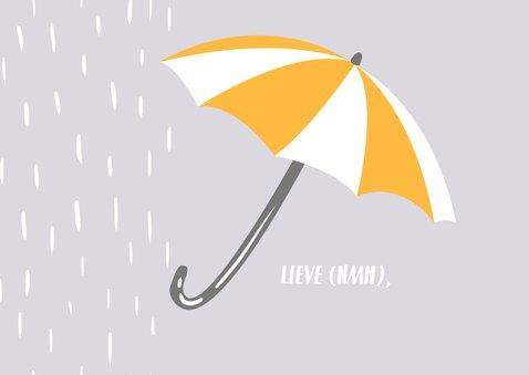 Knuffelkat met Paraplu 2