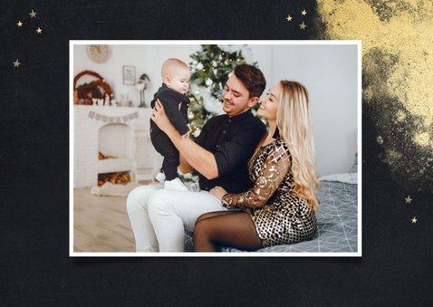 Krijtbordlook fotokaart fijne feestdagen 2021 gouden sterren 2