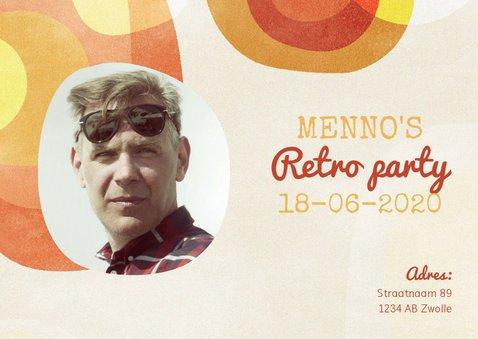Leuke uitnodiging voor verjaardagsfeest met retro thema 2