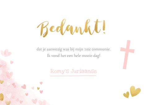 Lief bedankje voor een meisjes communie vlinders hartjes 3