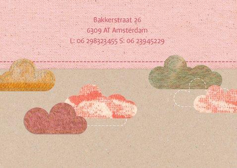 Lief geboortekaartje met wolkjes 2