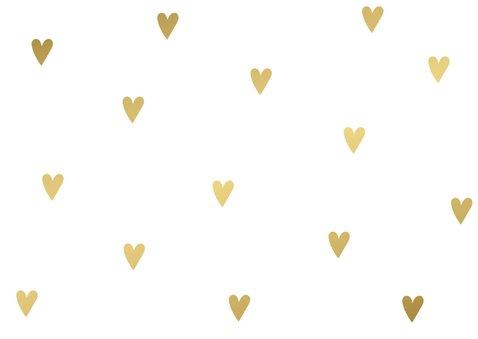 Liefdekaart gouden hart 2