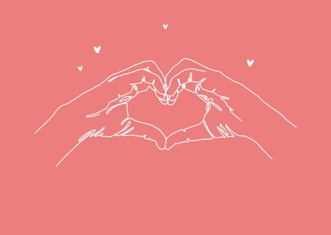 Liefdekaart thank you bedankt vriendschap i love you 2