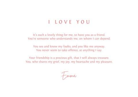 Liefdekaart thank you bedankt vriendschap i love you 3