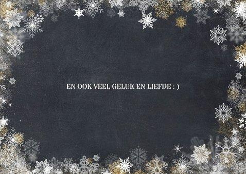 Liefdevolle kerstkaart met 3 foto's in zwartwit 2