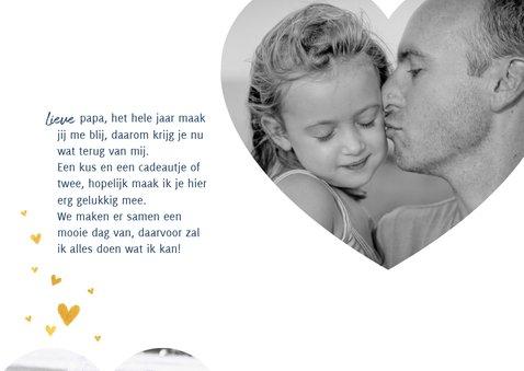Lieve vaderdagkaart met grote hartjes foto en hartjes 2