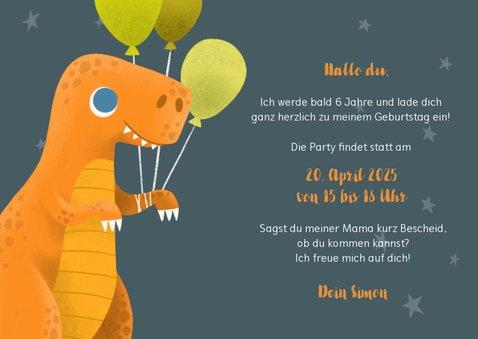 Lustige Dino-Einladung zum Kindergeburtstag mit Foto 3