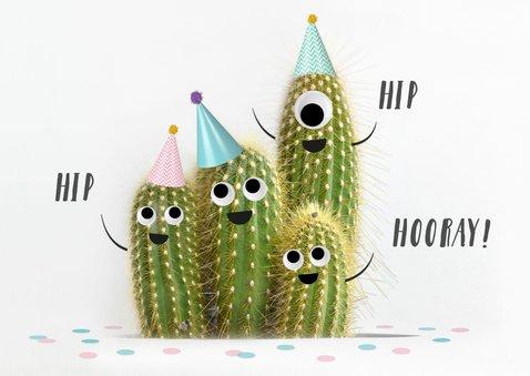 Lustige Glückwunschkarte zum Geburtstag mit Kakteen 2