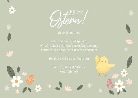 Lustige Osterkarte Fotos, Osterhase & Küken 3