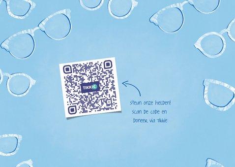 Make-A-Wish kaart met brillen, tekst en eigen foto 2