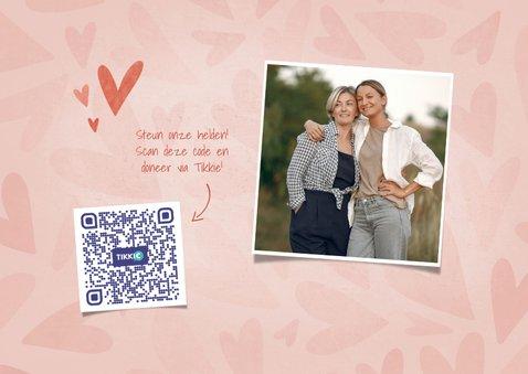 Make-A-Wish kaartje veel liefs voor jou met hartjes 2