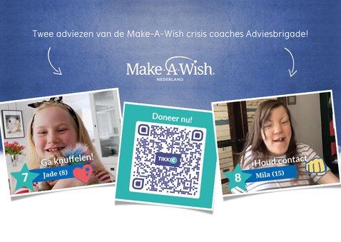 Make-A-Wish knuffel kaart met hart en eigen foto 2