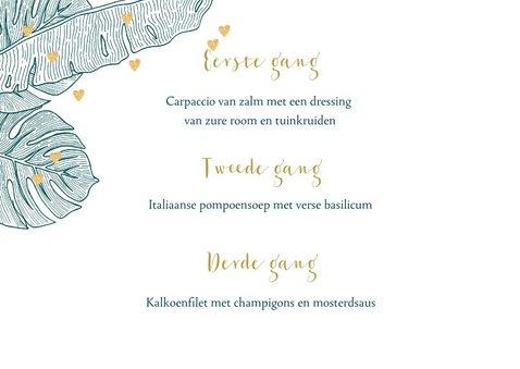 Menukaart trouwen botanical hartjes  2