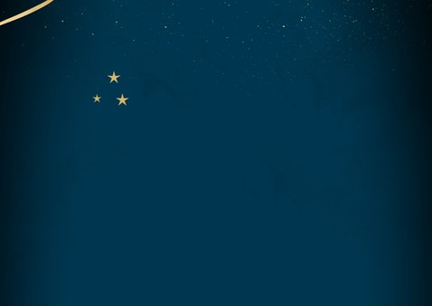 Merry Christmas in goud op blauw 2