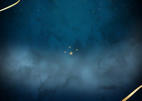 Merry Christmas in goud op blauw Achterkant