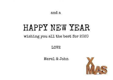 Merry XMas kraft letters met eigen foto op houtlook  3