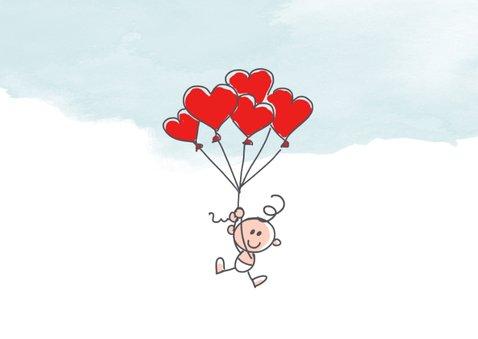 Mijn eerste valentijnsdagkaart met ooievaar en baby 2