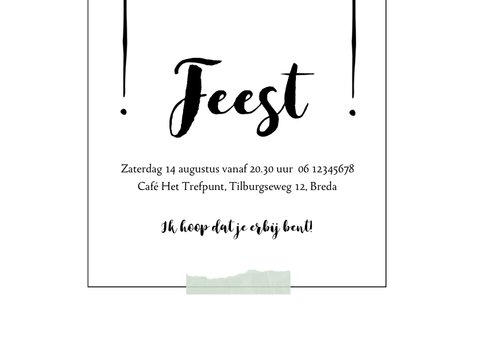 Moderne, eenvoudige uitnodiging met speelse typografie 3