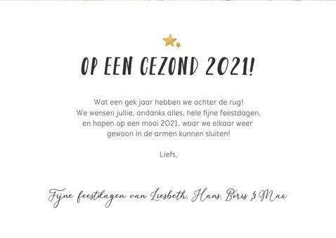 Moderne fotocollage nieuwjaarskaart - 2020 wat een jaar 3
