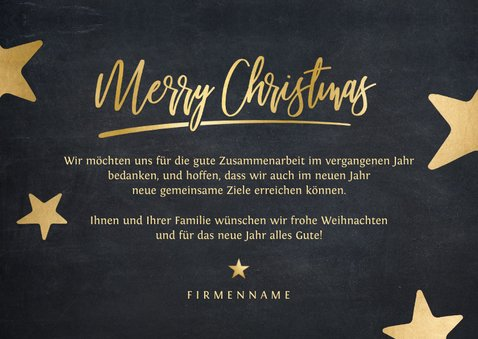 Moderne geschäftliche Weihnachtskarte mit Fotos und Sternen 3