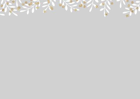 Moderne kerstkaart dennetakken ster 2