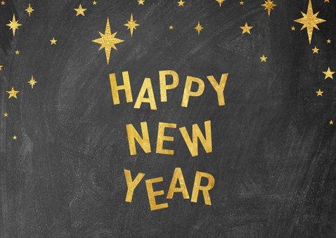 Moderne nieuwjaarskaart met 2021 fotocollage en sterren 2