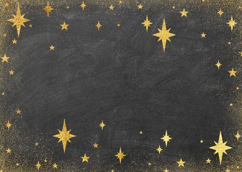 Moderne nieuwjaarskaart met 2021 fotocollage en sterren Achterkant