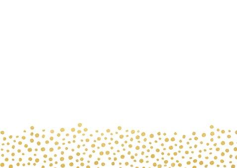Moderne trouwkaart wij gaan trouwen met gouden stippen Achterkant