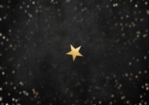 Moderne zakelijke kerstkaart bedankt helden, gouden sterren Achterkant