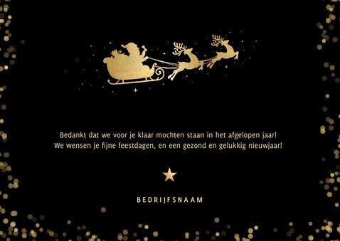 Moderne zakelijke kerstkaart met silhouet rendier in goud 3
