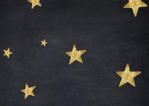 Moderne zwarte zakelijke kerstkaart fotocollage met sterren  Achterkant