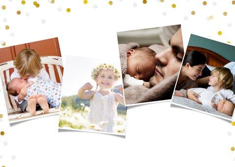 Moederdag fotokaart met 3 eigen foto's en confetti 2