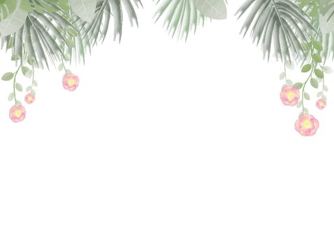 Moederdag hippe kaart bloemen, hartjes en botanica 2