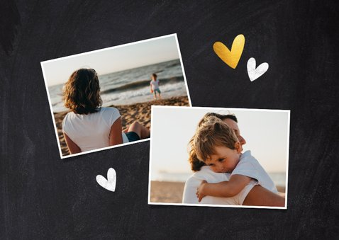 Moederdag kaart je hebt een hart van goud foto krijtbord 2