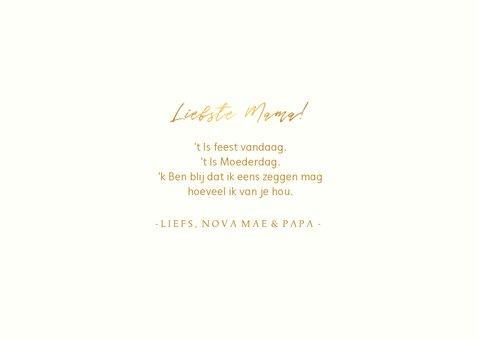 Moederdagkaart fotocollage 'liefste mama!' met hartjes 3