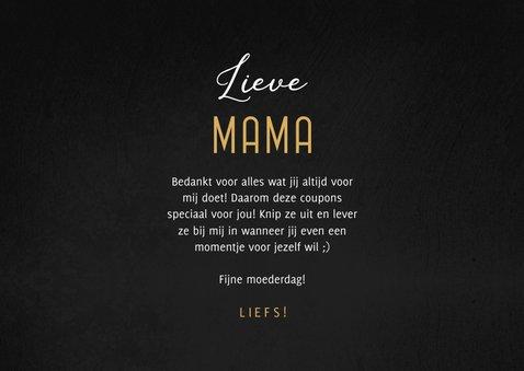Moederdagkaart met 5 uitknipbare Mama's coupons 3