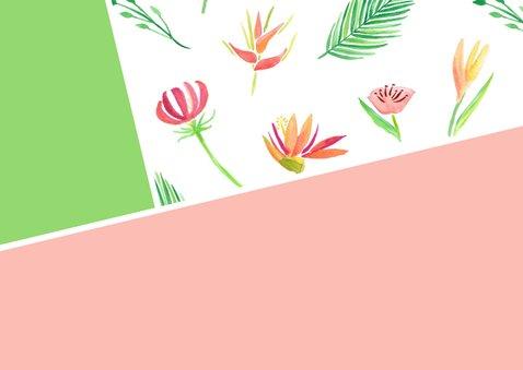 Moederdagkaart waterverf bloemen en foto 2